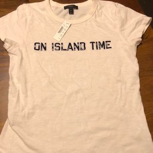 NWT J.Crew On Island Time T-shirt Small